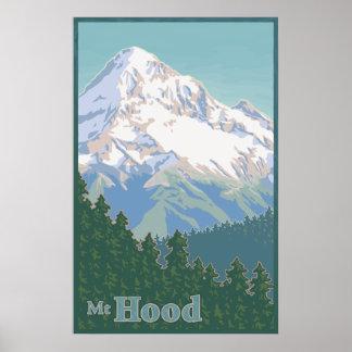 Poster de viagens da capa do Mt. do vintage Pôster