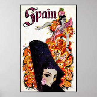 Poster de viagens da espanha