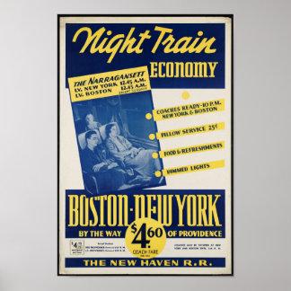 Poster de viagens da estrada de ferro do vintage