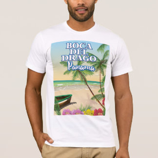 Poster de viagens da praia de Boca del Drago Camiseta
