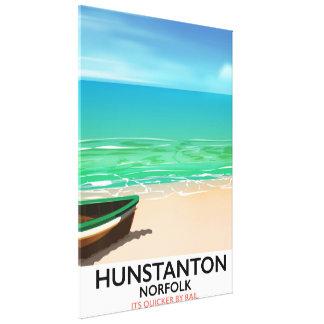 Poster de viagens da praia de Hunstanton Norfolk
