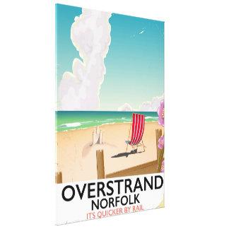 Poster de viagens da praia de Overstrand Norfolk