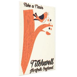 Poster de viagens da praia de Titchwell Norfolk Impressão Em Tela