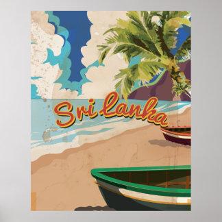 Poster de viagens das férias do vintage de Sri Pôster