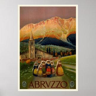 Poster de viagens de Abrvzzo do vintage