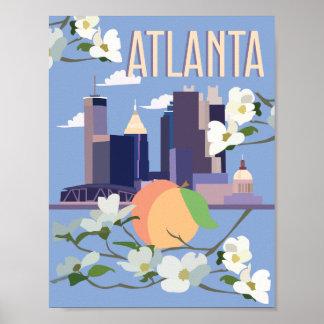 Poster de viagens de Atlanta