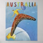 Poster de viagens de Austrália