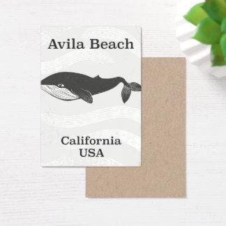 Poster de viagens de Califórnia da praia de Avila Cartão De Visitas