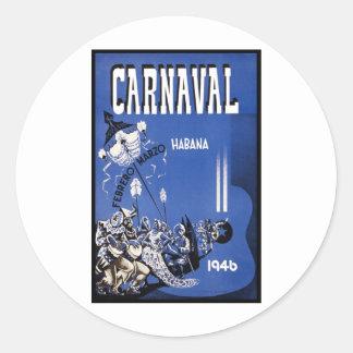 Poster de viagens de Carnaval Habana Adesivo