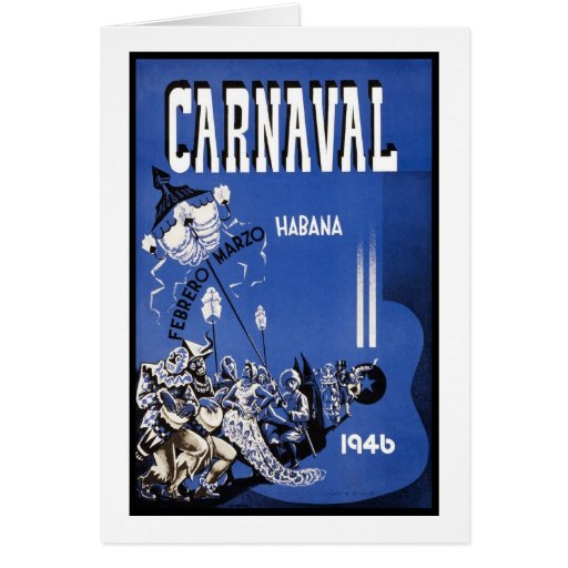 Poster de viagens de Carnaval Habana Cartao