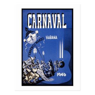 Poster de viagens de Carnaval Habana Cartao Postal
