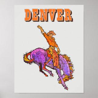 Poster de viagens de Denver