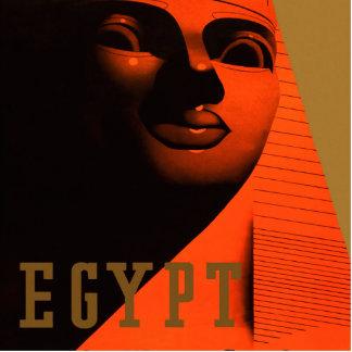 Poster de viagens de Egipto do vintage Esculturafoto