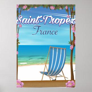Poster de viagens de France do Santo-Tropez