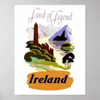 Poster de viagens de Ireland Pôster
