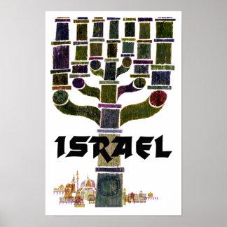 Poster de viagens de Israel