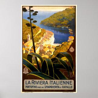 Poster de viagens de Italia do vintage