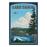 Poster de viagens de Lake Tahoe
