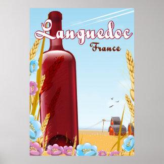 Poster de viagens de Languedoc France
