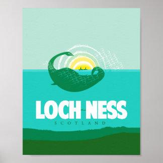 Poster de viagens de Loch Ness, Scotland