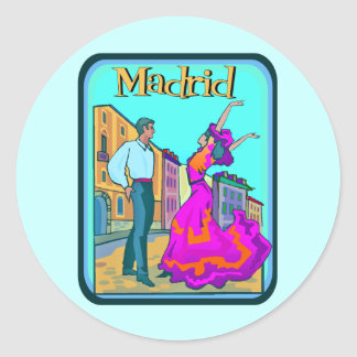 Poster de viagens de Madrid Adesivo