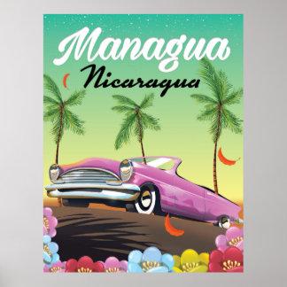 Poster de viagens de Managua - de Nicarágua
