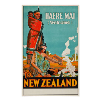 Poster de viagens de Nova Zelândia