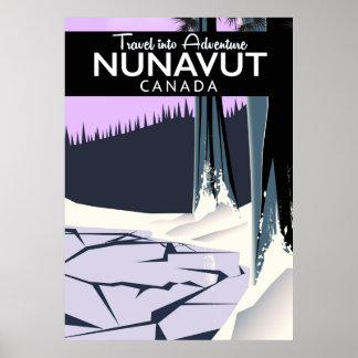 Poster de viagens de Nunavut Canadá