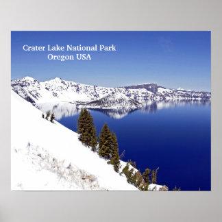 Poster de viagens de Oregon EUA do parque nacional