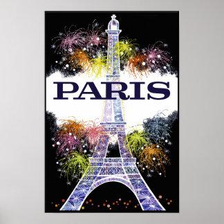 Poster de viagens de Paris, France