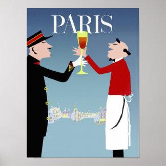 Poster de viagens de Paris, France Pôster