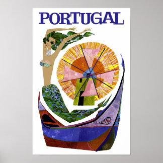 Poster de viagens de Portugal