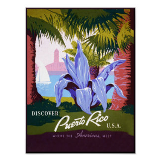 Poster de viagens de Puerto Rico