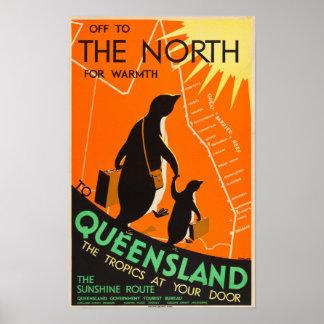 Poster de viagens de Queensland, Austrália