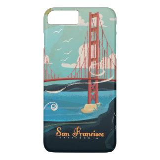 Poster de viagens de San Francisco Califórnia EUA Capa iPhone 7 Plus