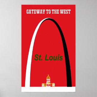Poster de viagens de St Louis, Missouri