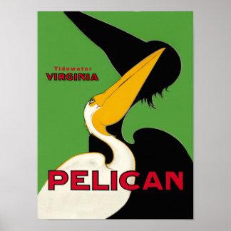 Poster de viagens de Virgínia do Tidewater
