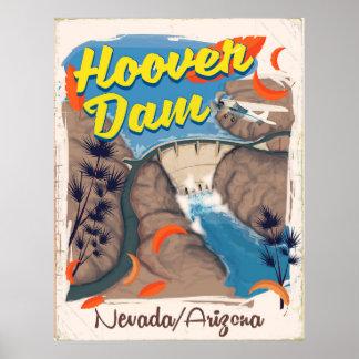 Poster de viagens do barragem Hoover
