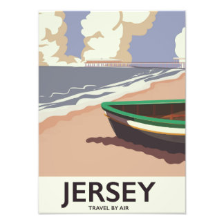 Poster de viagens do beira-mar do vintage do impressão de foto