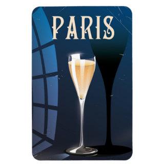 Poster de viagens do estilo do vintage da bebida foto com ímã retangular