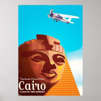 Poster de viagens do estilo do vintage do Cairo