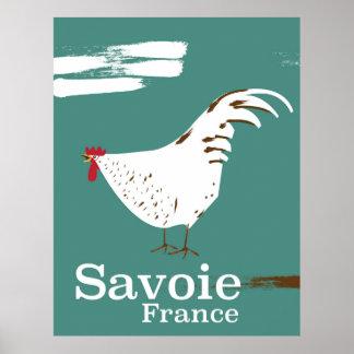 Poster de viagens do galo novo de Sabóia France