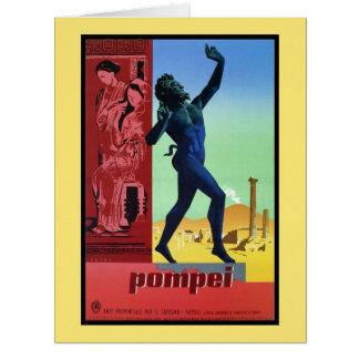 Poster de viagens do italiano de Pompeii do Cartão Comemorativo Grande