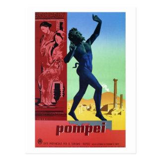 Poster de viagens do italiano de Pompeii do vintag Cartões Postais