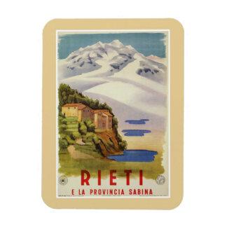 Poster de viagens do italiano do vintage de Rieti Ímã