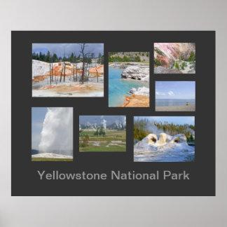 Poster de viagens do parque nacional de Yellowston Pôster