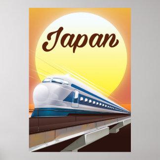 Poster de viagens do trem de bala de Japão