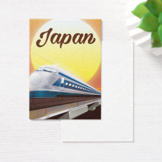 Poster de viagens do trem de bala de Japão Cartão De Visitas