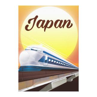 Poster de viagens do trem de bala de Japão Impressão Em Canvas