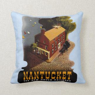 Poster de viagens do trilho de Nantucket do Almofada